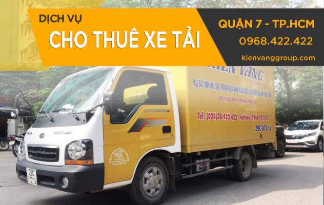 Cho thuê xe tải chở hàng quận 7, TP.HCM