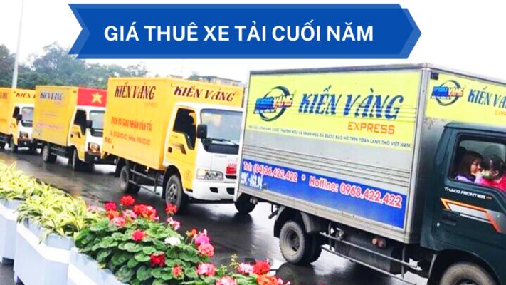 Giá thuê xe tải chở hàng vào những tháng cuối năm